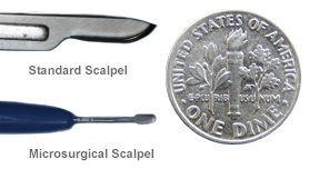 Scalpel used in microsurgery